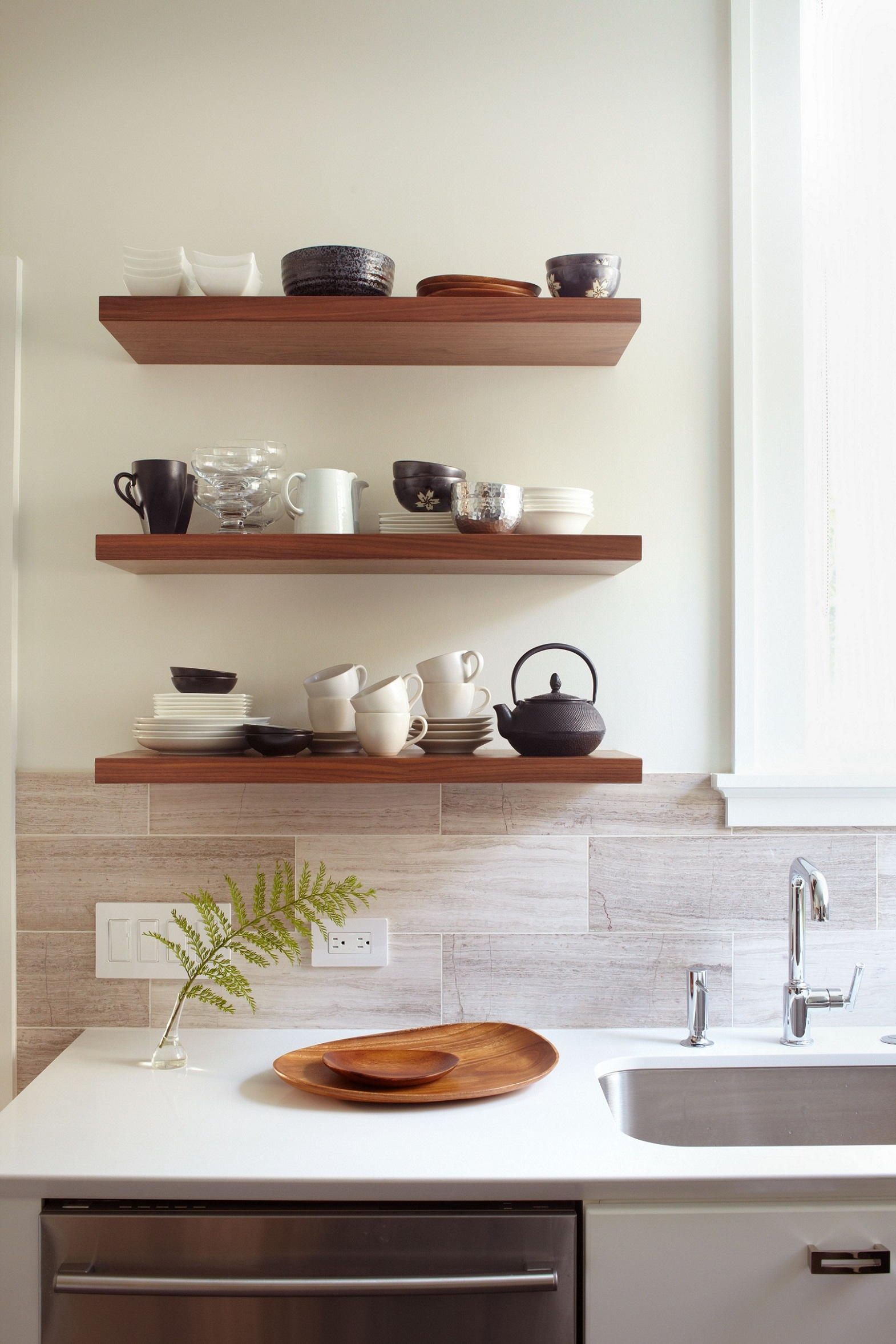 Kitchen Modern Wall Shelves Shelf With Lights Eiforces With Kitchen Wall Shelves (View 8 of 12)
