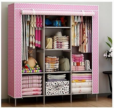 Kitchen New Portable Bedroom Furniture Clothes Wardrobe Closet In Mobile Wardrobe Cabinets (#4 of 15)