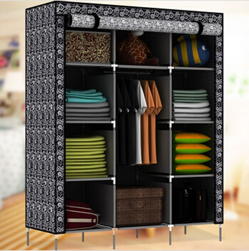 Kitchen New Portable Bedroom Furniture Clothes Wardrobe Closet With Mobile Wardrobe Cabinets (#7 of 15)