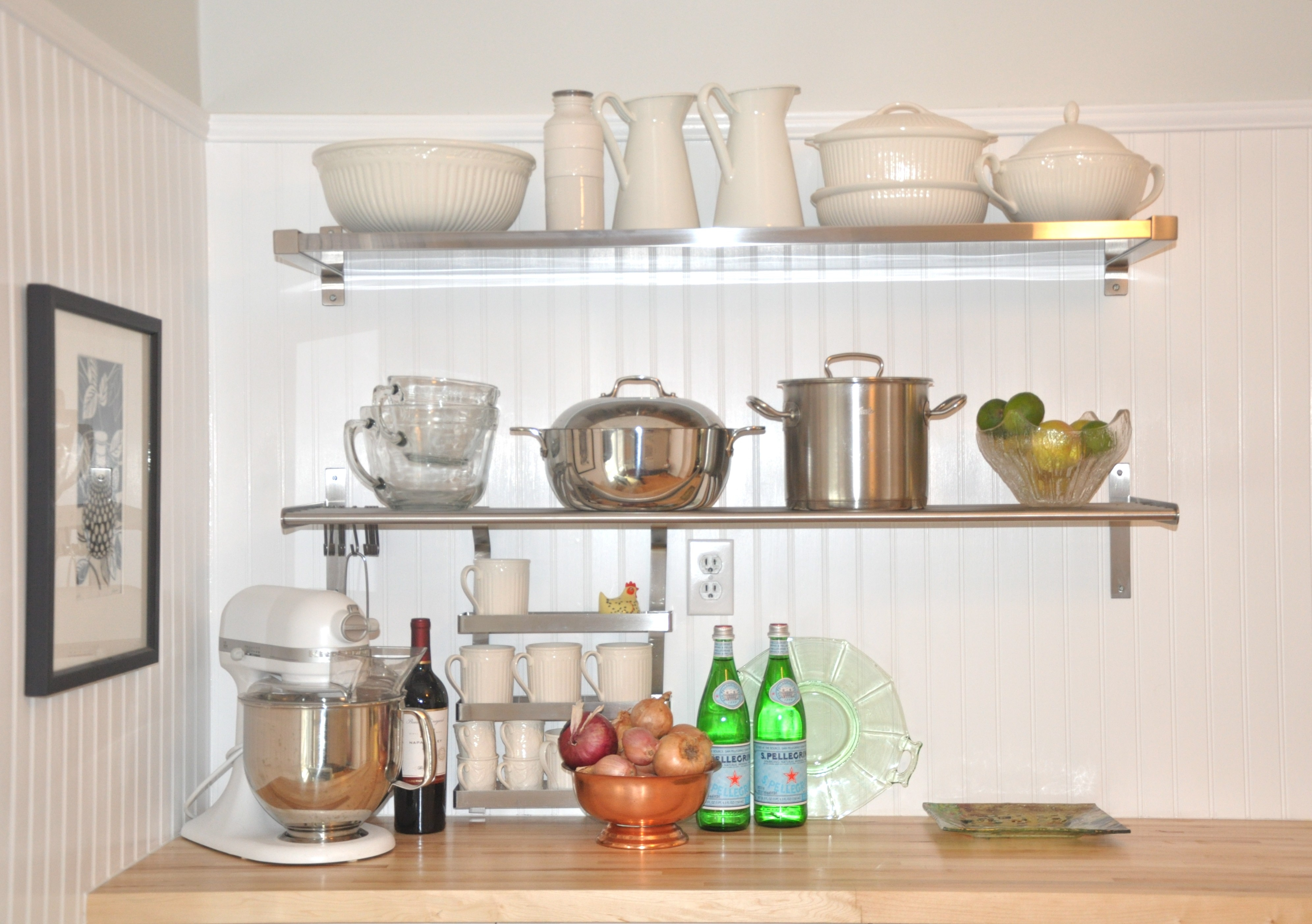 Kitchen Wall Shelves Ideas Wooden Stainless Steel Wood Eiforces For Kitchen Wall Shelves (#9 of 12)