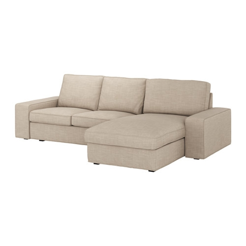 Kivik Two Seat Sofa And Chaise Longue Hillared Beige Ikea Intended For IKEA Chaise Lounge Sofa (View 12 of 15)