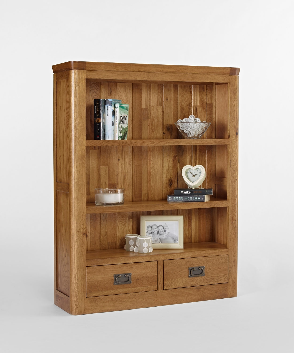 Knightsbridge Oak Small Bookcase With Drawers Fantastic Pertaining To Small Bookcases (#5 of 15)