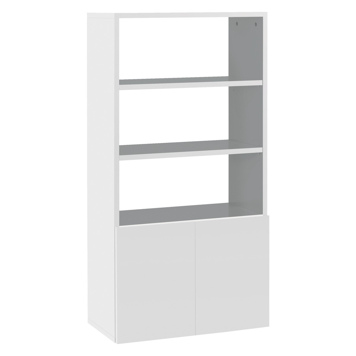 Kubrik White High Gloss Short Shelving Unit Buy Now At Habitat Uk Within White Shelving Units (#8 of 15)