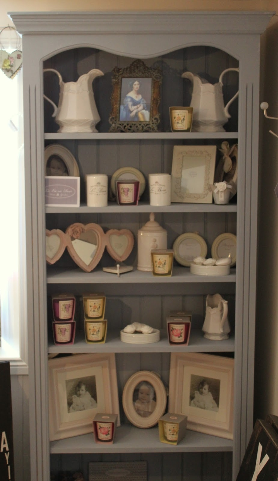 La Vie En Rose Bookcase Painted In Annie Sloan Chalk Paint A With Regard To Painted Bookshelf (#9 of 15)
