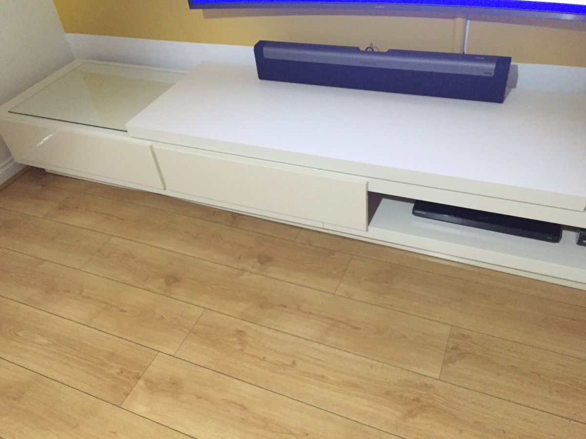 Lack Tv Stand At Twice The Length Ikea Hackers Ikea Hackers Regarding Radiator Cover Tv Stand (View 13 of 15)