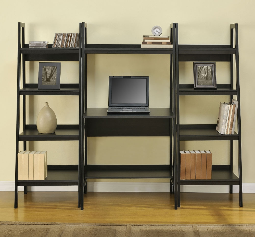 Ladder Bookshelves Idi Design For Desk With Matching Bookcase (#10 of 15)