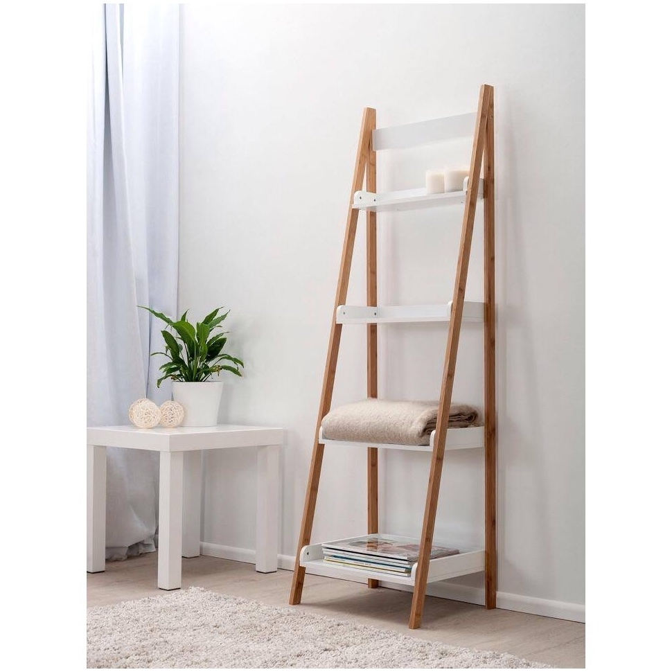 Ladder Shelf Desk White Leaning Ladder Shelf Diy Ladder Shelf Ana With White Ladder Shelf (View 13 of 15)