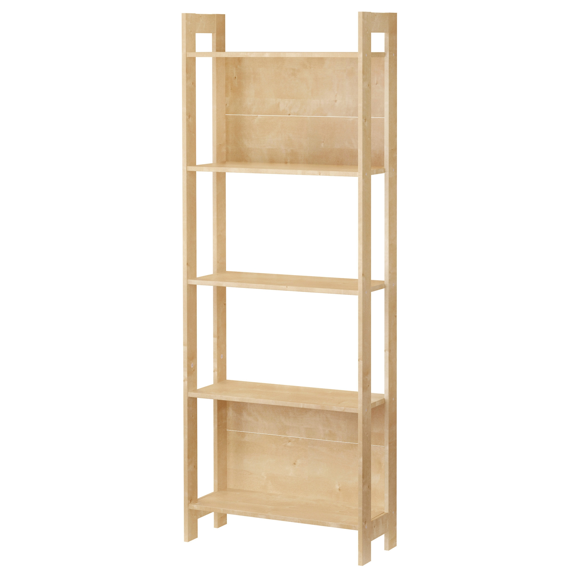 Laiva Bookcase Birch Effect 62×165 Cm Ikea For Flat Pack Bookcase (#9 of 15)