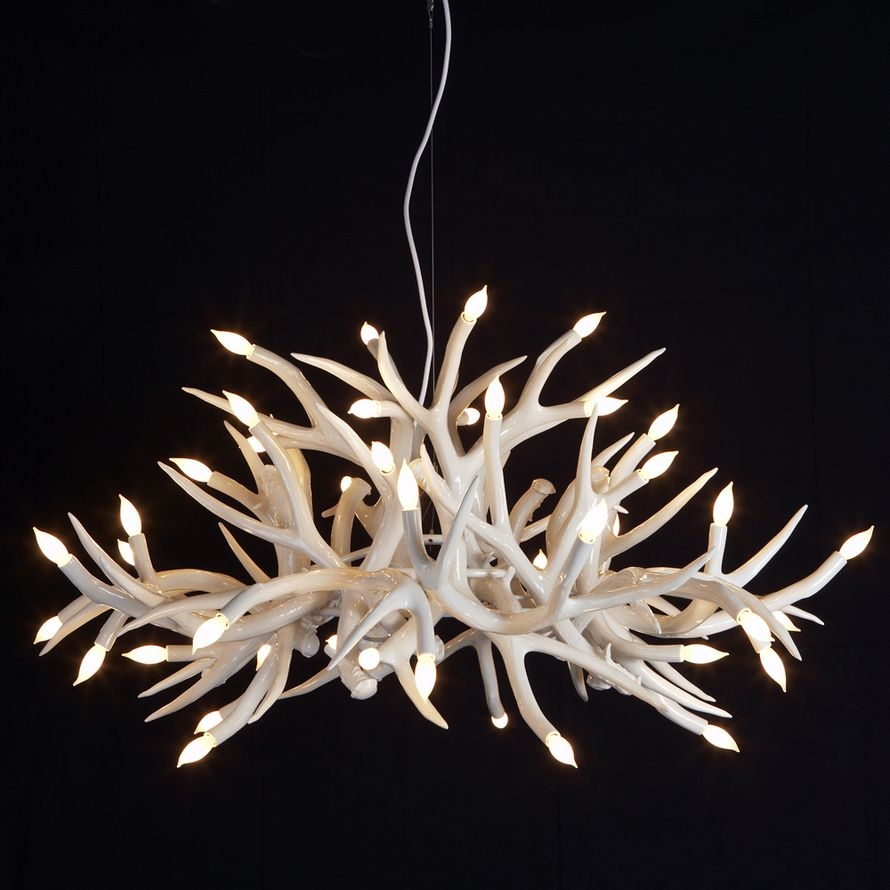 Lamp Deer Horn Chandelier With Authentic Look For Your Lighting For Antler Chandeliers And Lighting (#8 of 12)