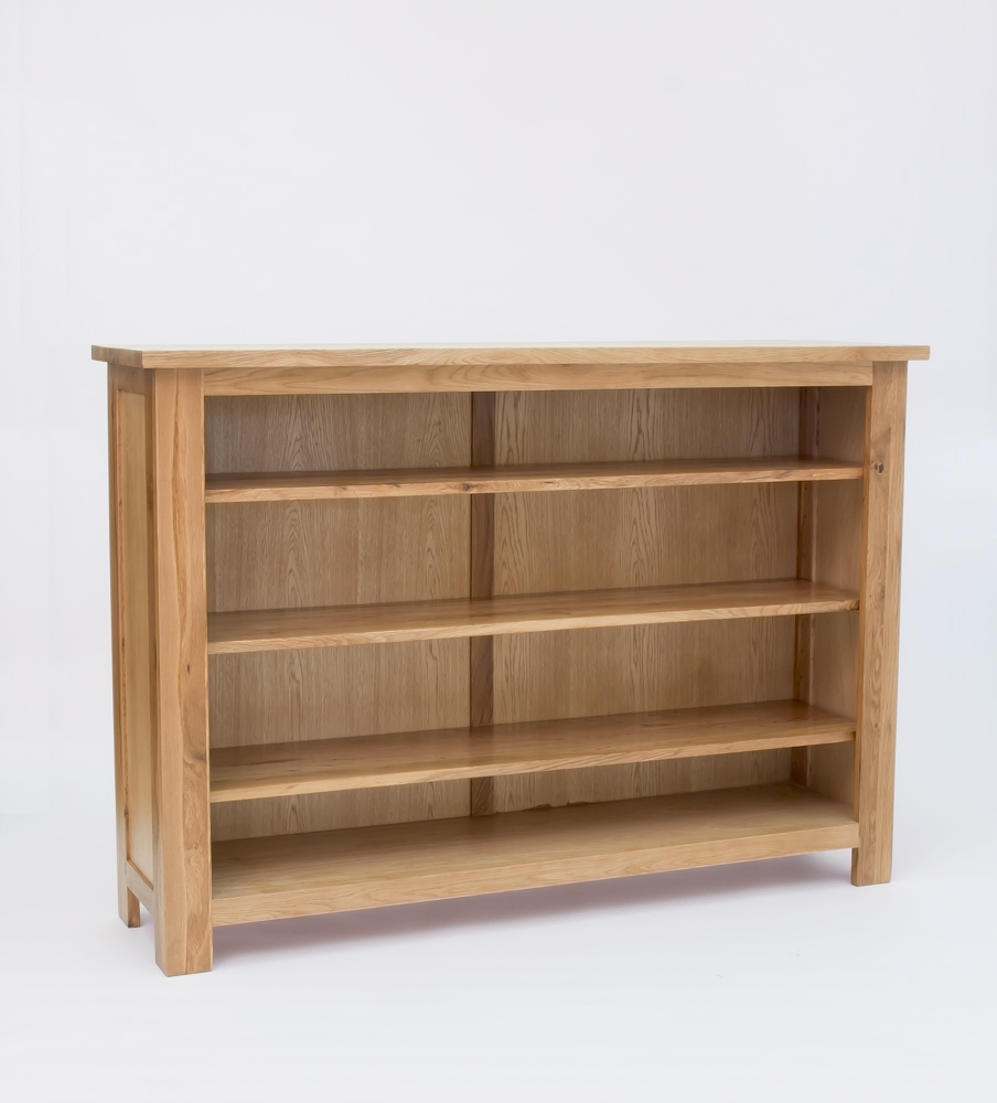 Lansdown Oak Low Bookcase 50 Off Rrp Oak Furniture Solutions With Regard To Oak Bookcases (View 7 of 15)
