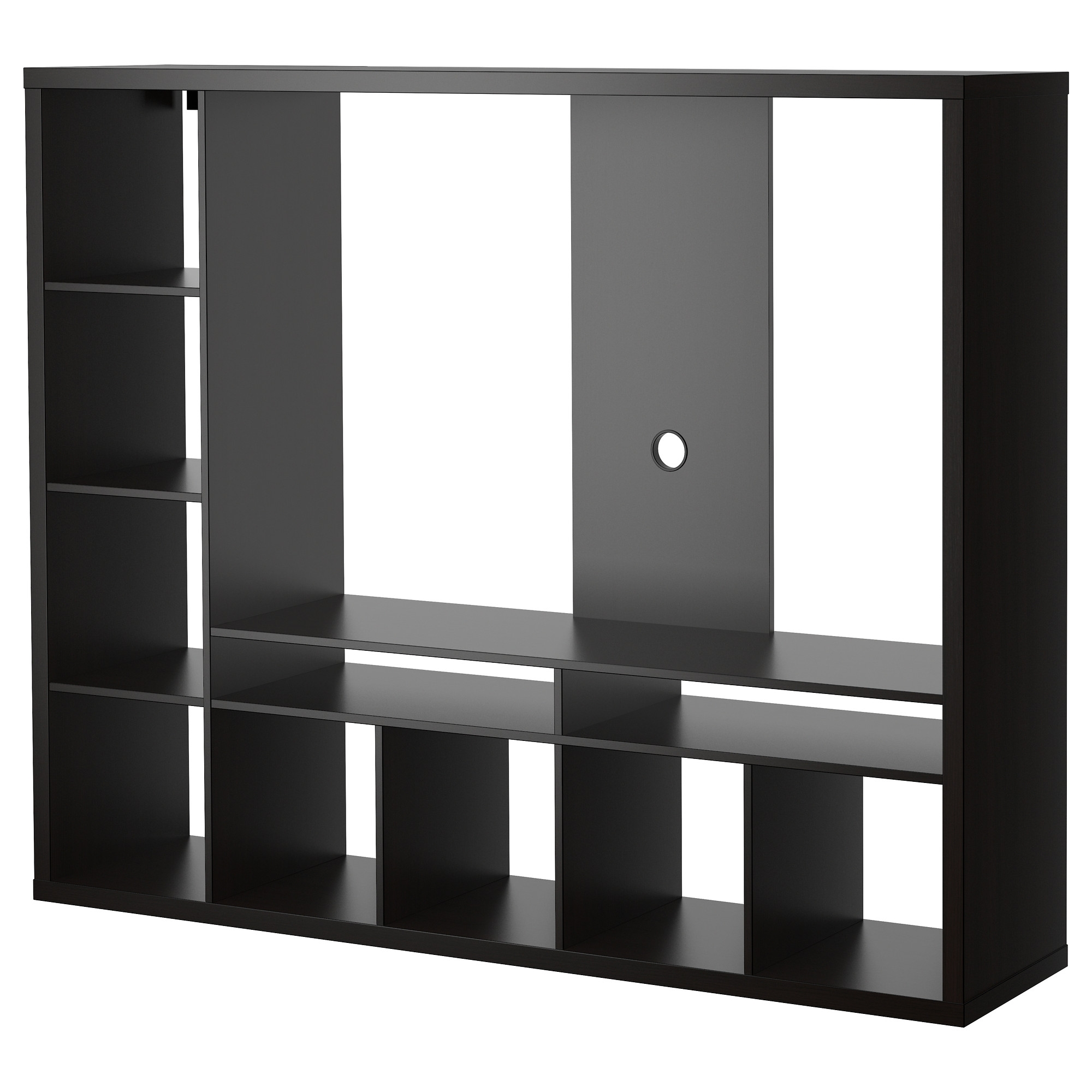 Lappland Tv Storage Unit Black Brown 183×147 Cm Ikea Intended For Tv Storage Units (#10 of 15)