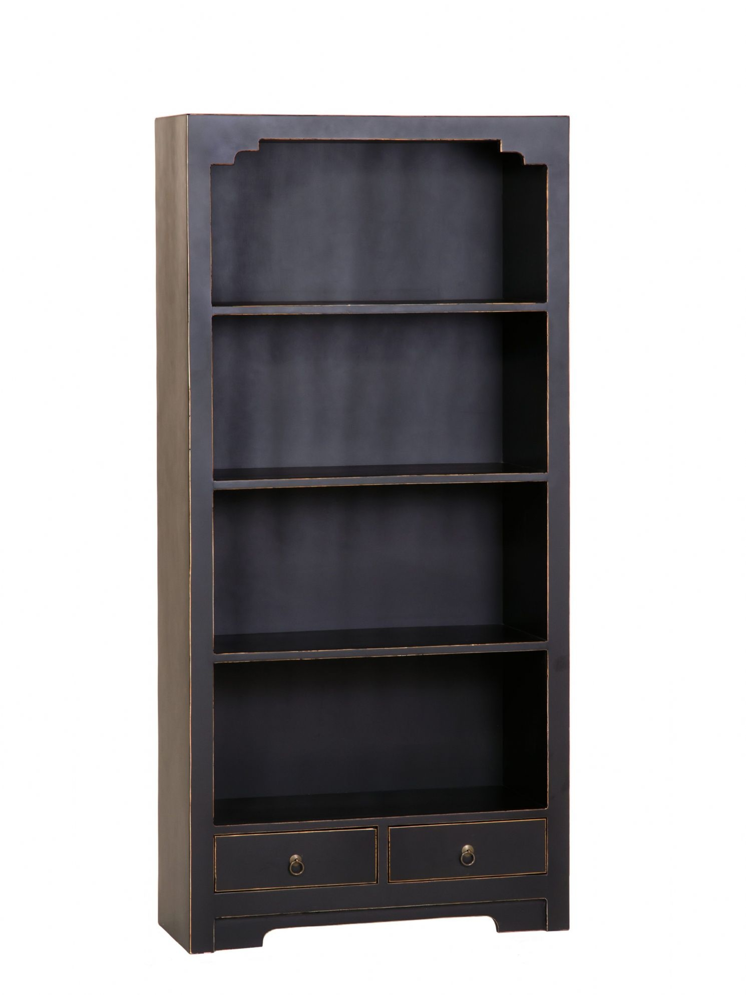 Large Black Bookcase Black Solid Wood Bookcases Black Painted Regarding Large Solid Wood Bookcase (#8 of 15)
