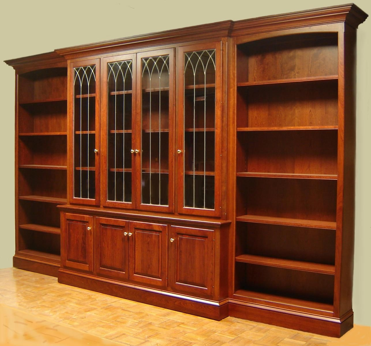 Large Bookcase With Glass Doors Doherty House Choosing Pertaining To Large Bookcases (#11 of 15)