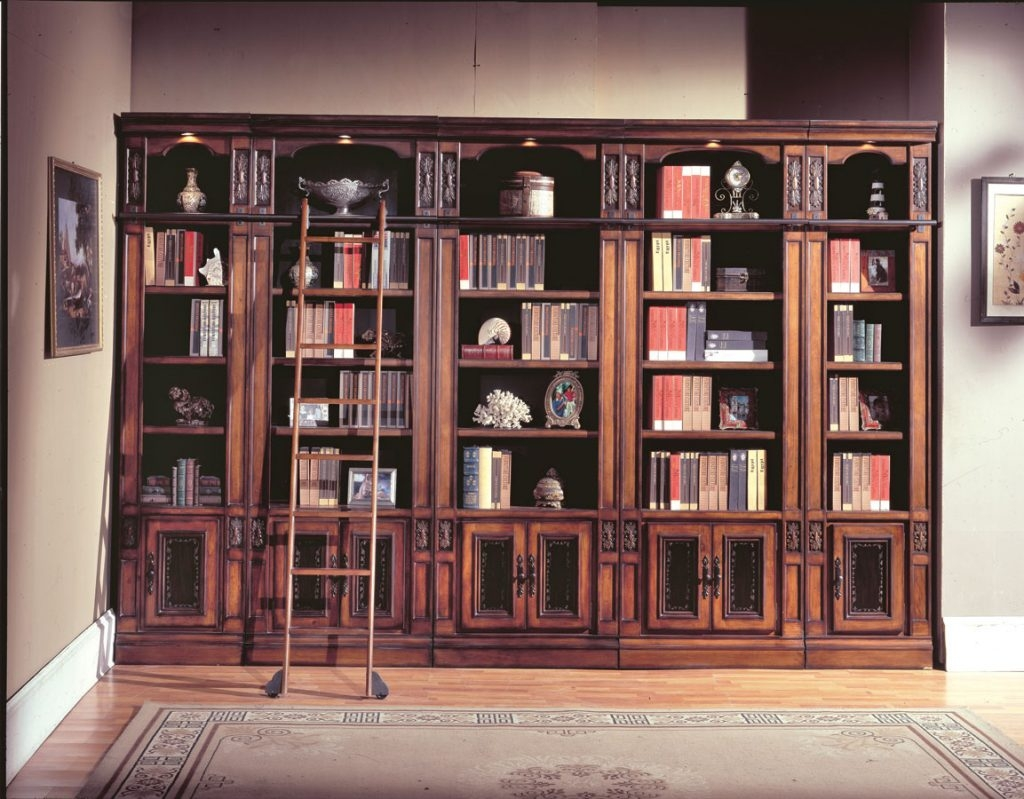 Large Bookcase With Ladder Rolling Dfcafabb Tikspor For Large Bookcase Plans (View 12 of 15)