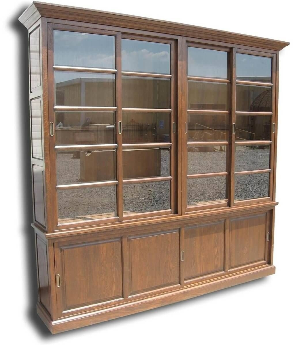 Large Bookcases American Hwy Within Large Solid Wood Bookcase (#9 of 15)