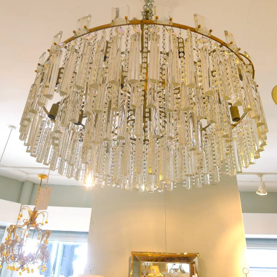 Large Bronze And Crystal Chandelier C 1950 In From Circus Antiques For Large Bronze Chandelier (#10 of 12)