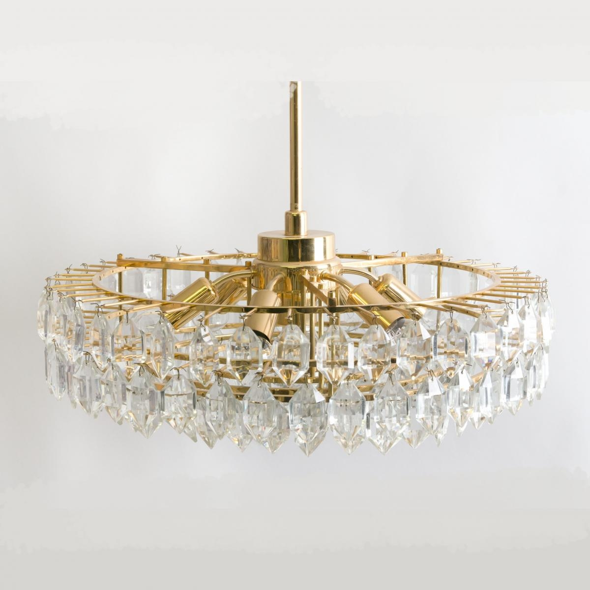 Large Glass Chandelier From Bakalowits And Sohne 1950s For Sale In Large Glass Chandelier (#6 of 12)