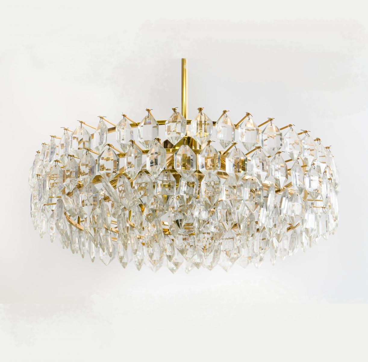 Large Glass Chandelier From Bakalowits And Sohne 1950s For Sale Within Large Glass Chandelier (#7 of 12)