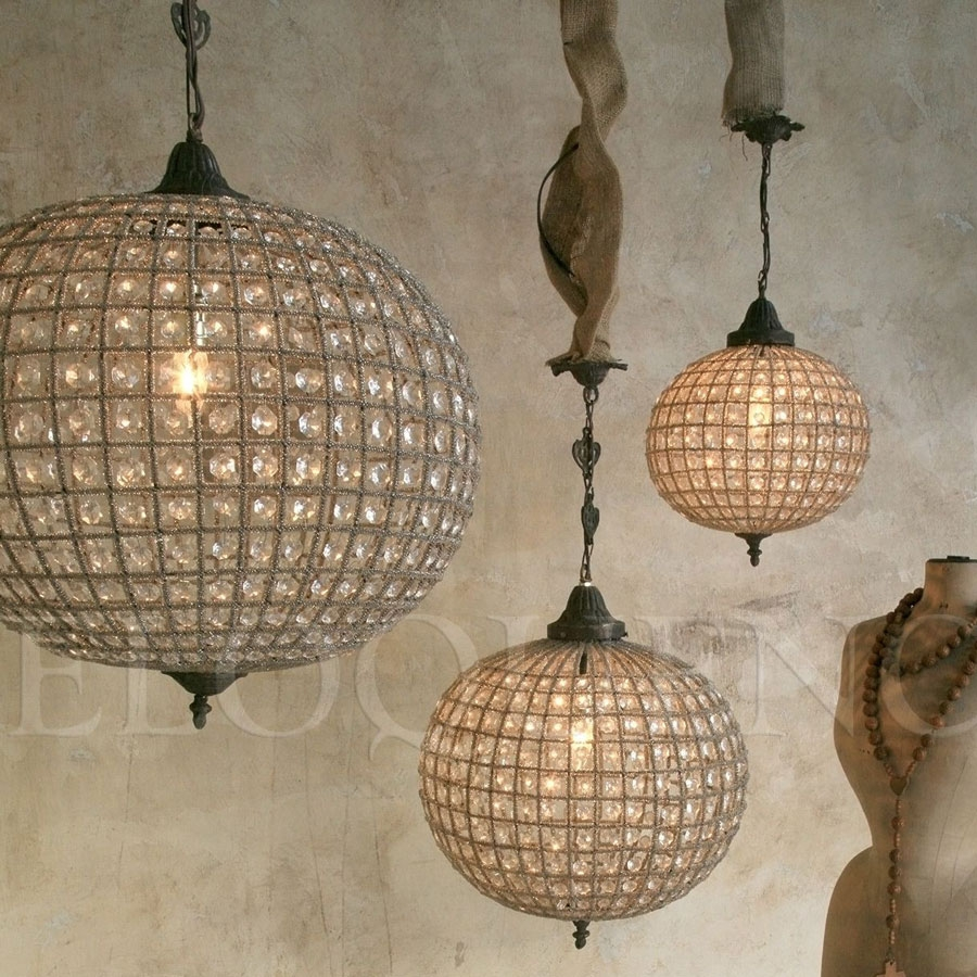 Popular Photo of Large Globe Chandelier
