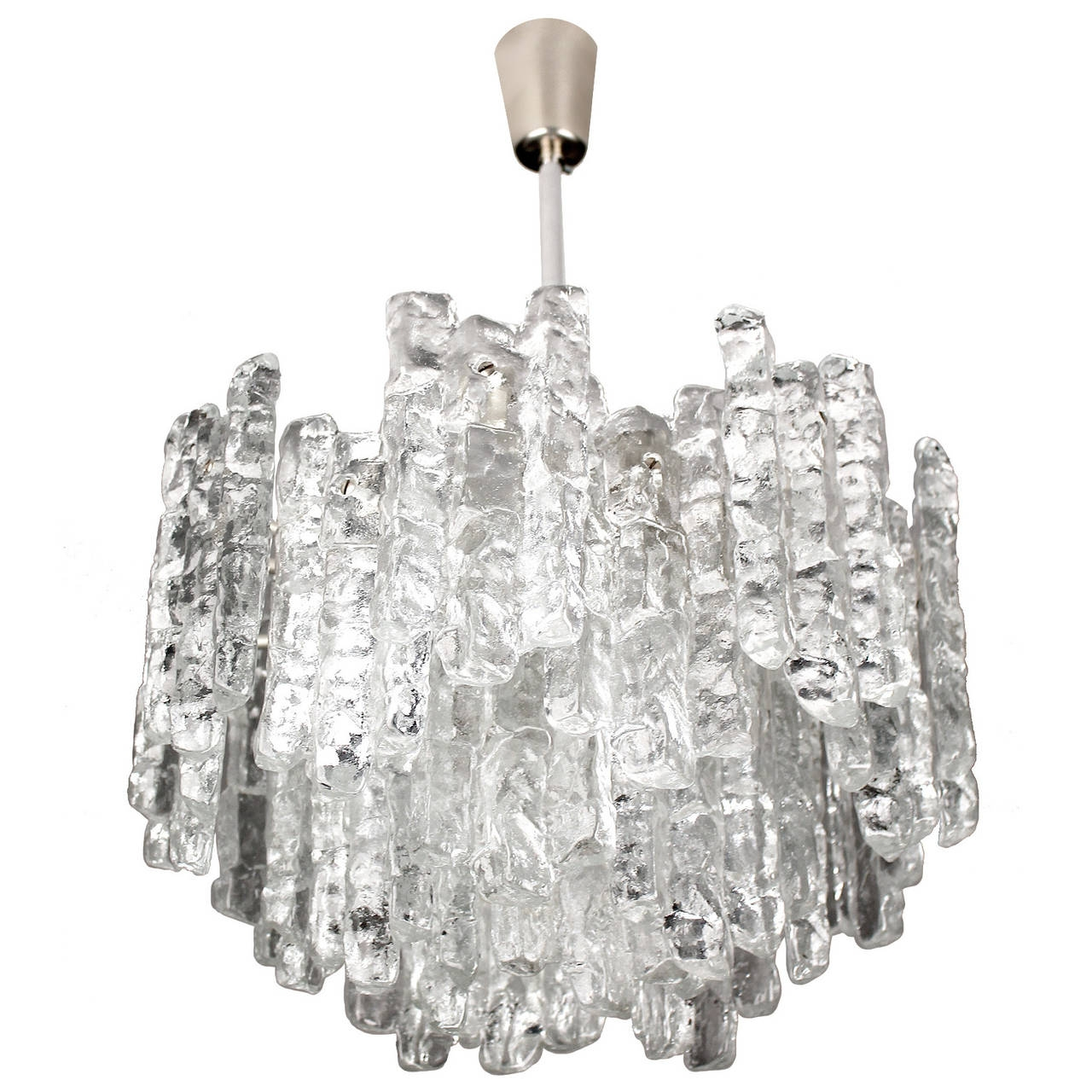 Large Kalmar Murano Glass Chandelier 1960s Modernist Design At Pertaining To Large Glass Chandelier (#10 of 12)
