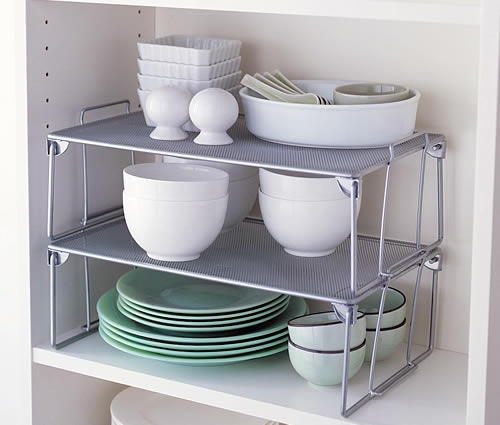 Large Mesh Stacking Shelf Getting Organised Pinterest In Storage Racks For Kitchen Cupboards (#10 of 15)