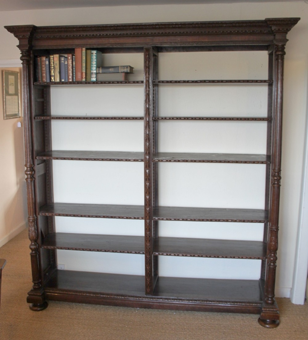 Large Oak Bookcase 334339 Sellingantiquescouk Intended For Large Bookcases (#13 of 15)