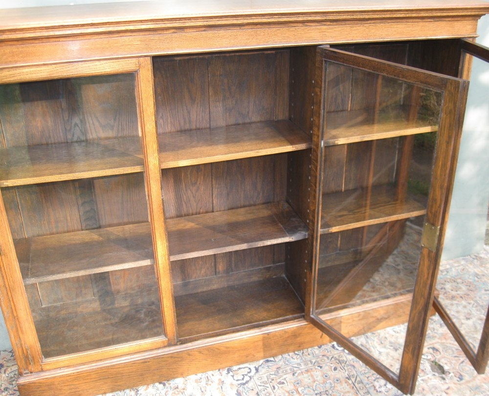 Large Oak Glazed Bookcase C1900 Antiques Atlas With Regard To Glazed Bookcases (#8 of 15)