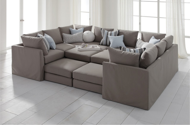 Large Sectional Sofas Roselawnlutheran In Pit Sofas (#7 of 15)