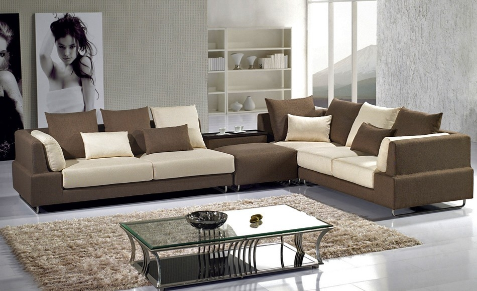 Large Two Tone Sectional Sofas 16 Interesting Two Tone Sectional Inside Two Tone Sofas (View 7 of 15)