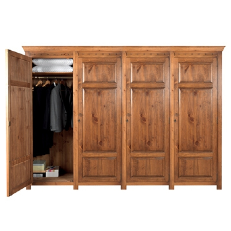 Large Wooden Wardrobe Wardrobes Hand Built In Solid Wood British For Large Wooden Wardrobes (#9 of 15)