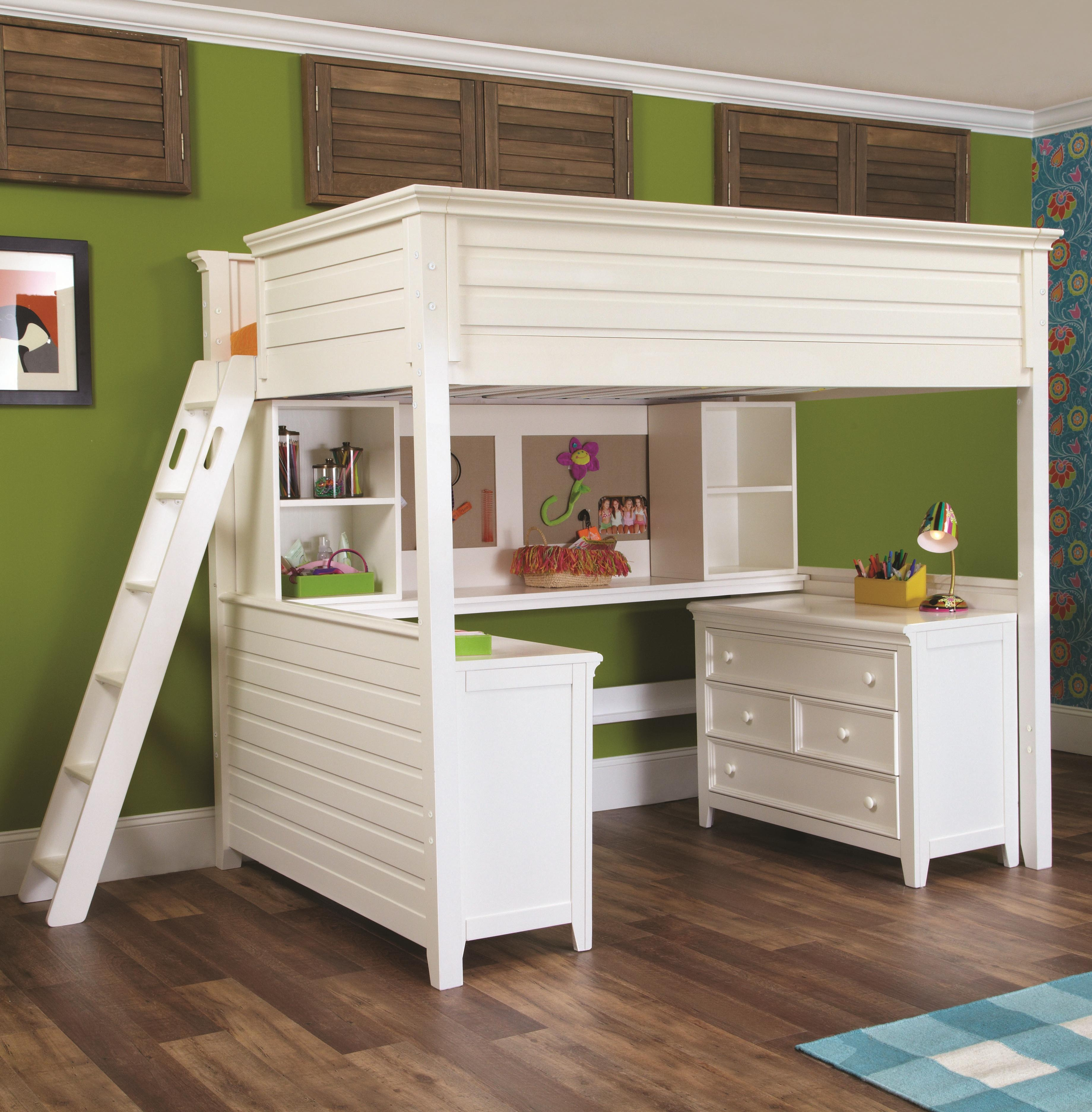 Lea Industries Willow Run Twin Lofted Bed With Desk Dresser Throughout Dresser And Bookcase Combo (View 12 of 15)