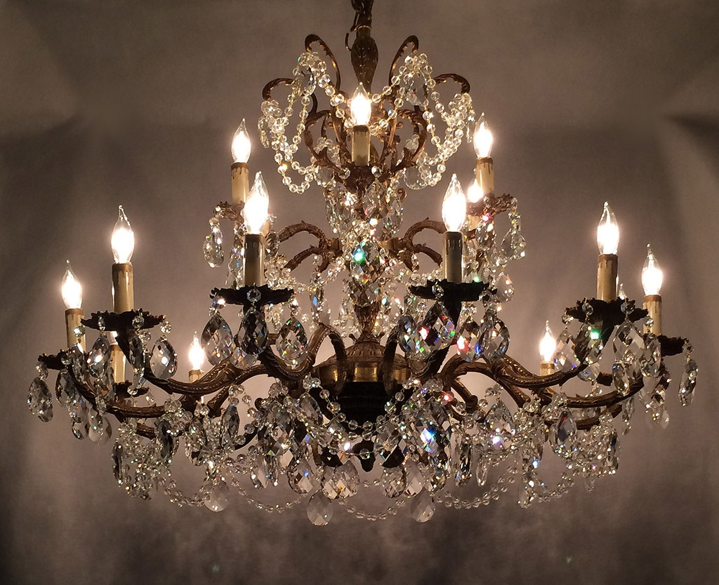 Learn Trade Secrets Restoring Old Antique Brass Chandeliers In Brass And Crystal Chandelier (#12 of 12)