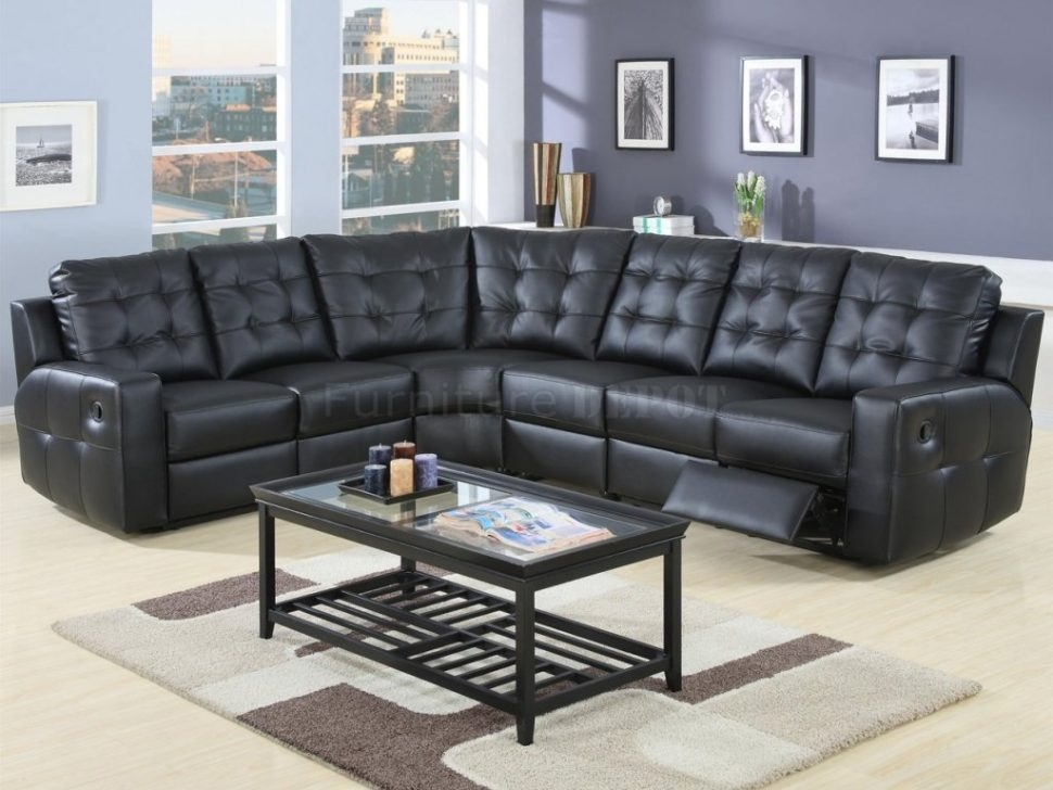 Leather Sofa Sectional Sofas Under Beautiful Black Leather Regarding Sectional Sofas Under  (#5 of 15)