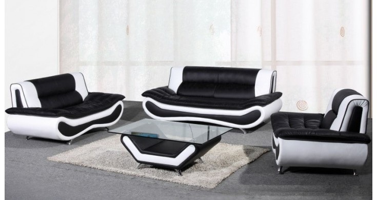 Popular Photo of Black And White Sofas