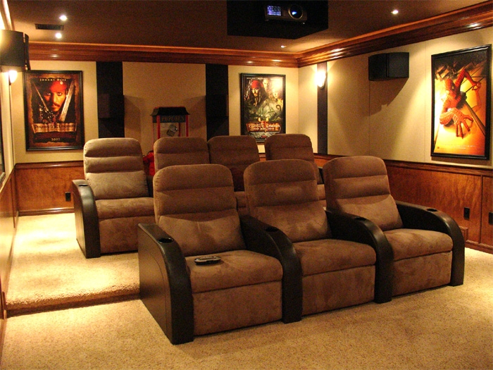Led Backlit Movie Poster Frame 27 X 40 Room Movie Rooms And Throughout Theater Room Sofas (#11 of 15)