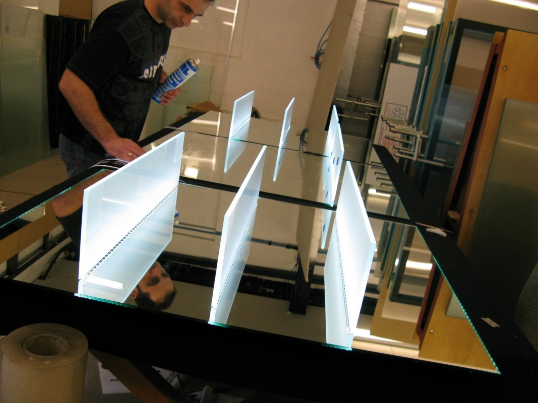 Led Illuminated Glass Shelves Illuminated Shelves Led Lit Shelves Pertaining To Illuminated Glass Shelves (#6 of 12)