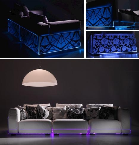 Led Sectionals Living Room Sofas Built In Mood Lighting With Regard To Sofas With Lights (#11 of 15)