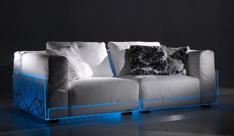 Popular Photo of Sofas With Lights