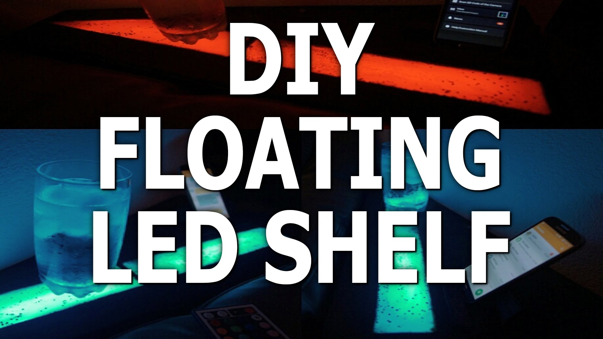Led Strip Floating Shelf Furniture Lighting Youtube Intended For Led Floating Shelves (#12 of 12)