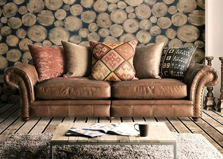 Lexington Leather And Fabric Sofa Collection From Tannahill Regarding Leather And Material Sofas (#9 of 15)