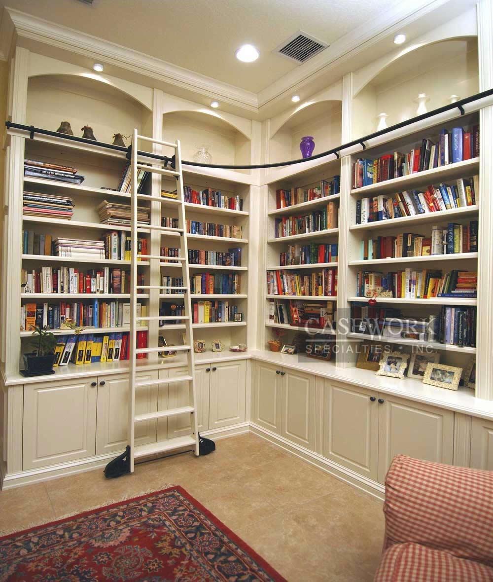 Library Built In Bookshelves Idi Design Inside Library Shelves For Home (#12 of 15)