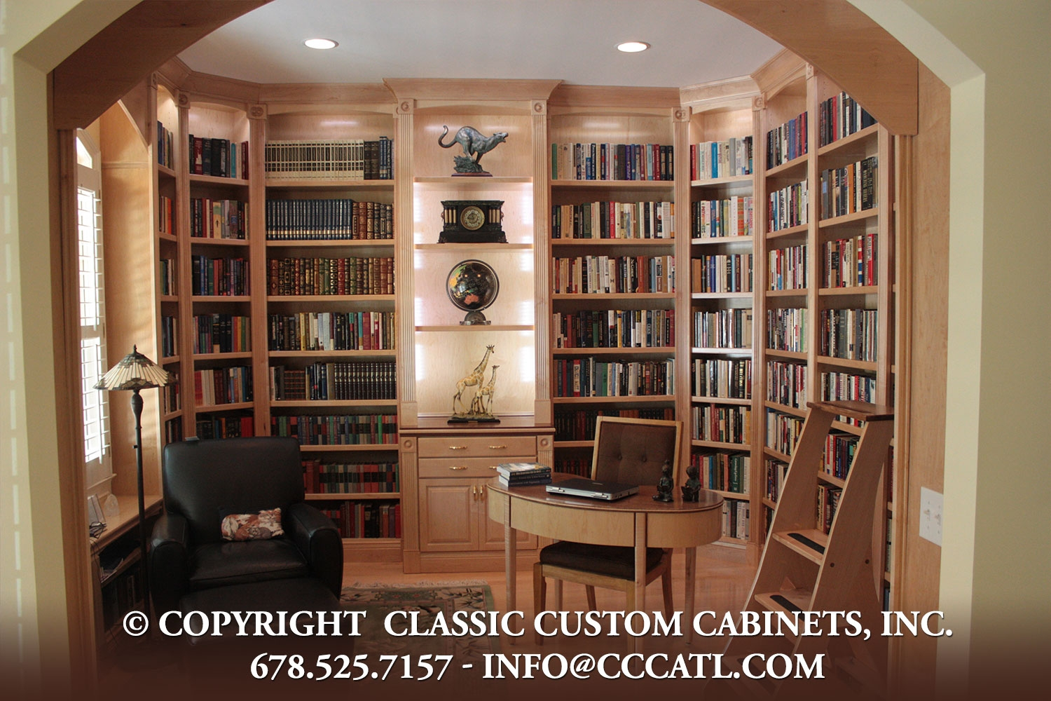 Library Shelving Classic Custom Cabinets Inc Intended For Library Shelves For Home (#13 of 15)