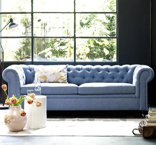 Light Blue Sofa Blue Sofa Living Room Intended For Inspire Pertaining To Blue Tufted Sofas (#10 of 15)