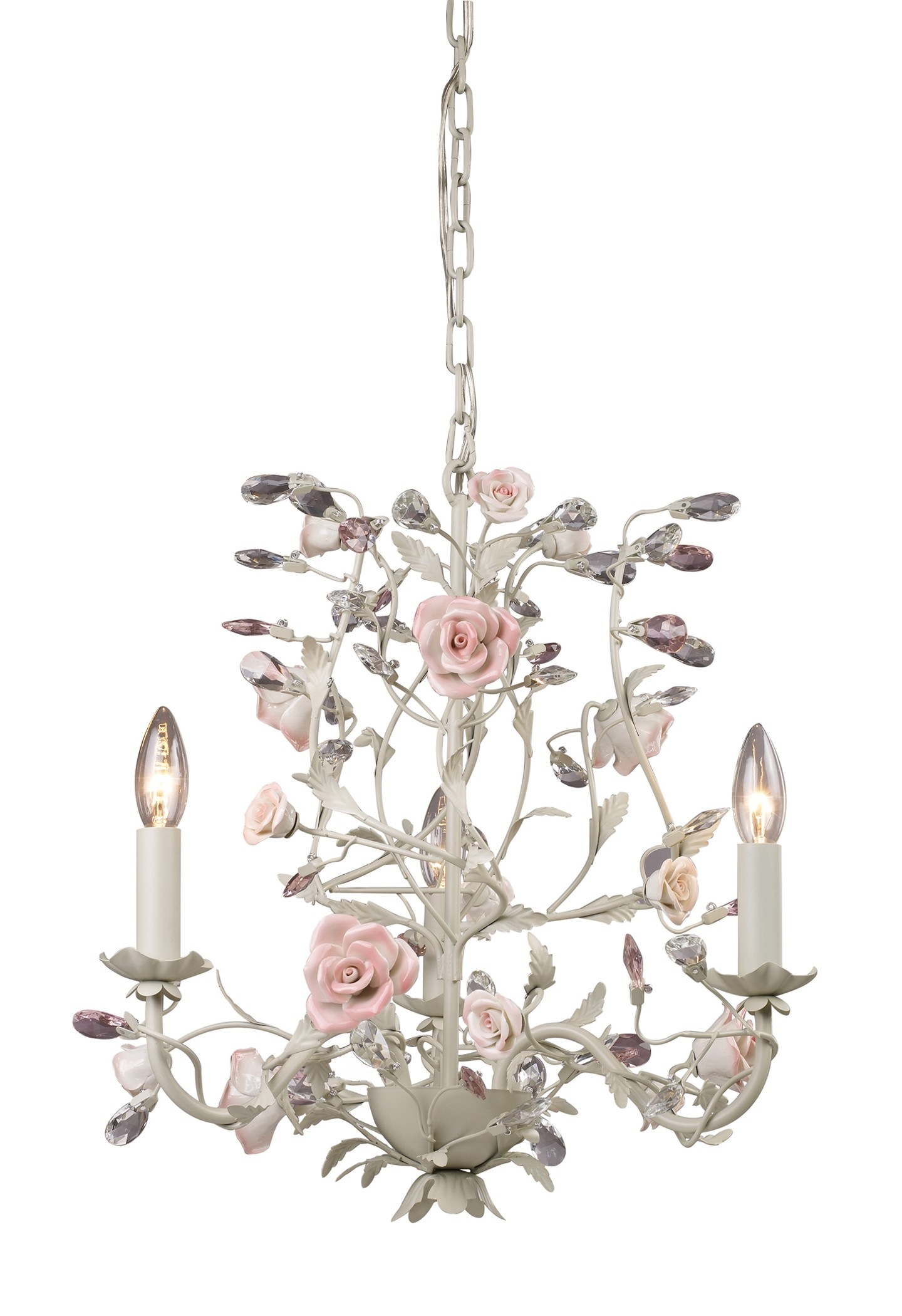 Light Flower Chandelier Would Love This For My Office Within Cream Crystal Chandelier (#9 of 12)