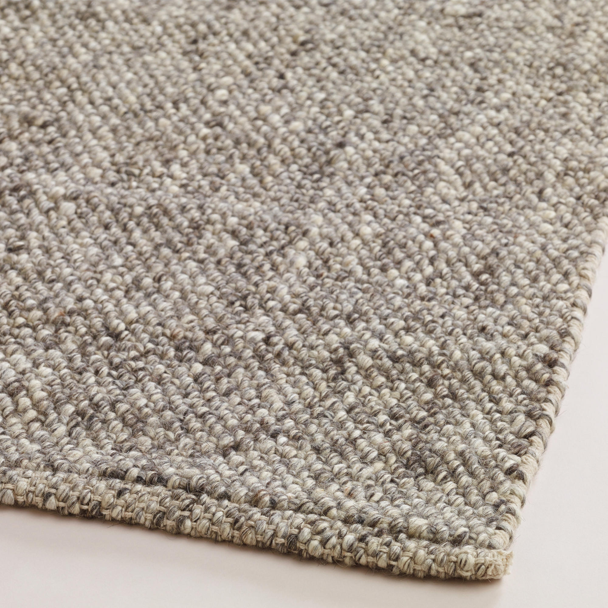 Light Gray Emilie Flatweave Sweater Wool Area Rug With Regard To Natural Wool Area Rugs (#4 of 15)