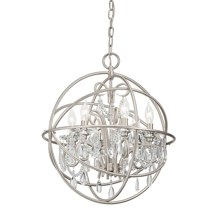 Lighting Chandeliers Beautiful Crystal Globe With Globe Regarding Crystal Globe Chandelier (#10 of 12)