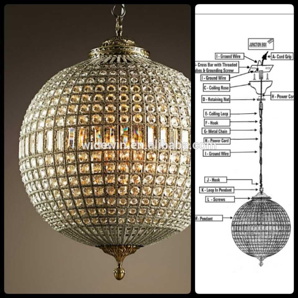 Lighting Crystal Globe Chandelier Manufacturers Supply Wholesale Regarding Crystal Globe Chandelier (#11 of 12)