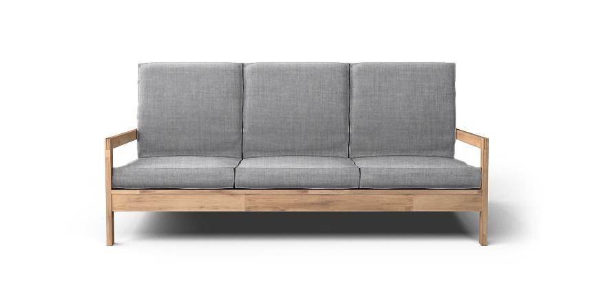 Lillberg 3 Seater Sofa Cover Beautiful Custom Slipcovers Regarding Lillberg Sofa Covers (#7 of 15)
