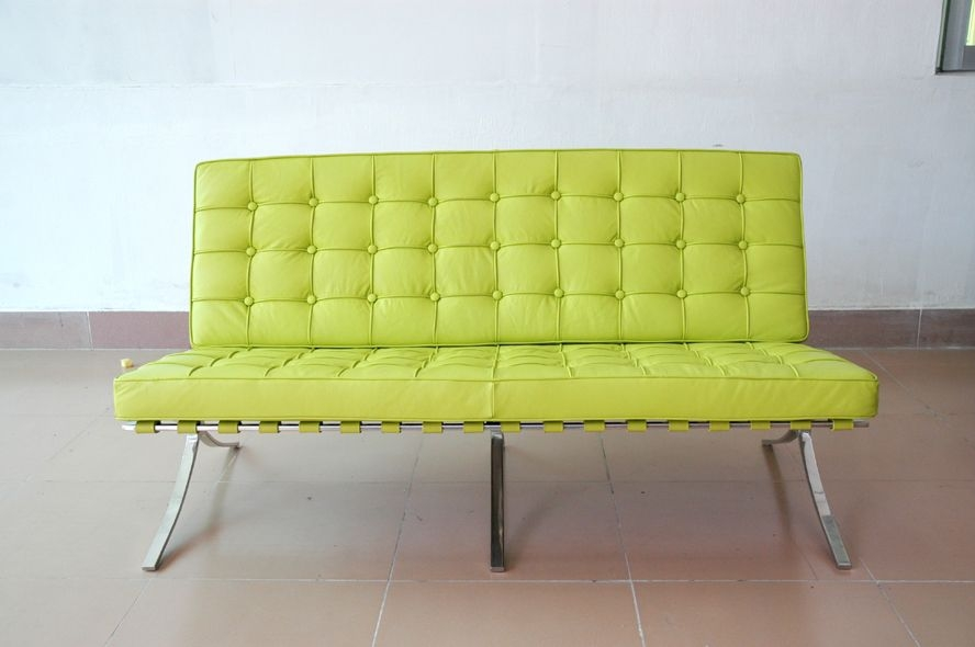 Lime Green Leather Furniture Lime Green Leather Sofa Intended For Green Sofa Chairs (View 9 of 15)
