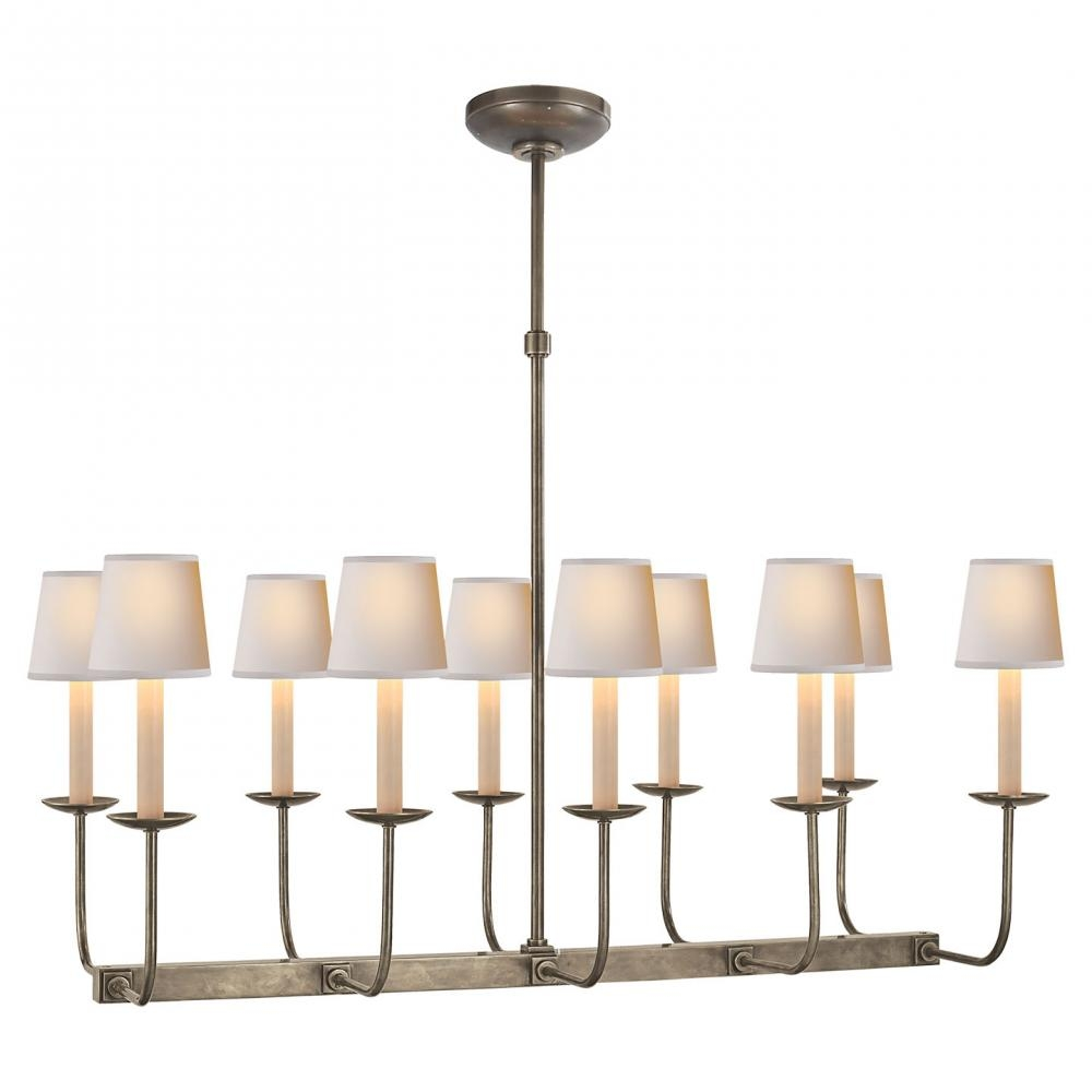 Linear Branched Chandelier In Antique Nickel Sl 5863an Suffolk Pertaining To Branched Chandelier (#5 of 12)